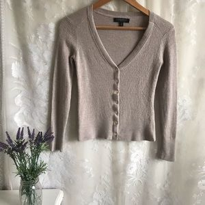 Banana Republic 100% Merino Wool Crop Cardigan XS